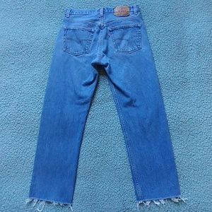 Vintage Levis 501 frayed hem jeans made in USA